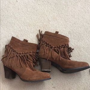 Sbicca Fringe Booties